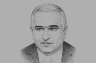 Sketch of <p>Shahin Mustafayev, Azerbaijani Minister of Economy and Industry</p>