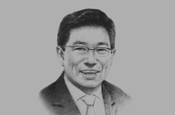 Sketch of <p> Yoon Sang-Jick, Korean Minister of Trade, Industry and Energy </p>