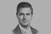 Sketch of <p> President Enrique Peña Nieto</p>