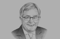 Sketch of <p> Andrew Robb, Australian Minister for Trade and Investment </p>