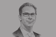 Sketch of <p>Tobias Ellwood MP, UK Parliamentary Under Secretary of State for Middle East and North Africa</p>