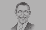 Sketch of <p>Barack Obama, President of the US</p>