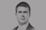 Sketch of <p>Manuel Valls, Prime Minister of France</p>