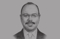 Sketch of <p>Hany Kadry Dimian, Minister of Finance</p>