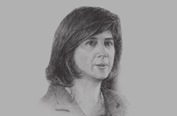 Sketch of <p>María Ángela Holguín, Minister of Foreign Affairs</p>