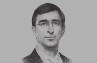 Sketch of <p>Juan Pablo Córdoba Garcés, President, Colombian Stock Exchange (Bolsa de Valores de Colombia, BVC)</p>