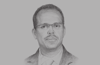Sketch of <p>Mahamoud Ali Youssouf, Minister of Foreign Affairs</p>