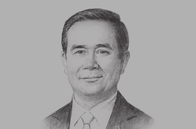 Sketch of <p>Prime Minister Prayuth Chan-ocha, on ASEAN cooperation and regional integration</p>
