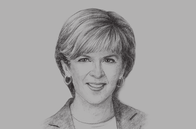 Sketch of <p>Julie Bishop, Australian Minister for Foreign Affairs</p>