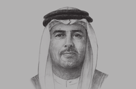 Sketch of <p>Ali Majed Al Mansoori, Chairman, Abu Dhabi Department of Economic Development (ADDED) </p>