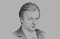 Sketch of <p>Hugo Swire, Minister of State, UK Foreign and Commonwealth Office</p>