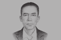 Sketch of <p>Arjun Bahadur Thapa, Secretary-General, South Asian Association for Regional Cooperation (SAARC) </p>