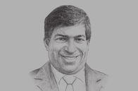 Sketch of <p>Ravi Karunanayake, Minister of Finance and Planning</p>