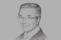 Sketch of <p>Former Prime Minister Mahathir Mohamad </p>