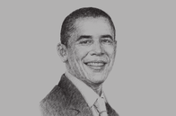 Sketch of <p>US President Barack Obama</p>