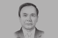 Sketch of <p>Thongsing Thammavong, Former Prime Minister of Laos and 2016 ASEAN Chair</p>