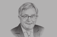 Sketch of <p>Andrew Robb, the Australian Government's Special Envoy for Trade</p>