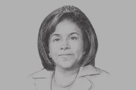 Sketch of <p>Paula Gopee-Scoon, Minister of Trade and Industry</p>