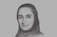 Sketch of <p>Sheikha Hind bint Hamad Al Thani, Vice-Chairperson and CEO, Qatar Foundation (QF)</p>