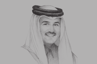 Sketch of <p>Sheikh Tamim bin Hamad Al Thani, Emir of Qatar</p>