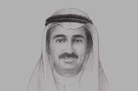 Sketch of <p> Yousef Mohammed Al Ali, Minister of Commerce and Industry</p>