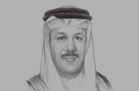 Sketch of <p>Abdul Latif Al Zayani, Secretary-General, GCC</p>