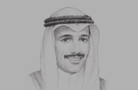 Sketch of <p>Marzouq Ali Al Ghanim, Speaker, Kuwait National Assembly</p>