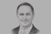Sketch of <p>John Key, Prime Minister of New Zealand </p>