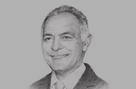 Sketch of <p>Salaheddine Mezouar, Minister of Foreign Affairs and Cooperation; and President, 22nd Conference of the Parties (COP22)</p>
