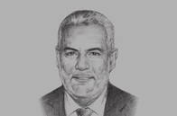 Sketch of <p>Abdel-Ilah Benkiran, Head of Government </p>