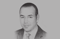 Sketch of <p> His Majesty King Mohammed VI</p>