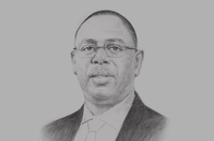 Sketch of <p>Macky Sall, President of Senegal</p>