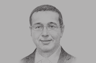 Sketch of <p> Mohammed Boussaid, Minister of Economy and Finance</p>