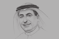 Sketch of <p>Suleiman Al Hamdan, Minister of Transport</p>