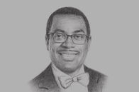 Sketch of <p> Akinwumi Adesina, President, African Development Bank (AfDB)</p>