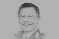 Sketch of <p>King Abdullah II</p>