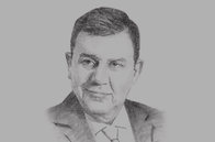 Sketch of <p>Ziad Fariz, Governor, Central Bank of Jordan (CBJ)</p>