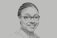 Sketch of <p>Mawuena Trebarh, CEO, Ghana Investment Promotion Centre (GIPC)</p>