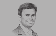 Sketch of <p>Greg Hands, UK Minister of State for International Trade</p>