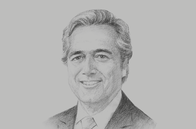 Sketch of <p>Mark Garnier, Parliamentary Undersecretary, UK Department for International Trade</p>