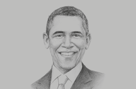 Sketch of <p>Former US President Barack Obama</p>