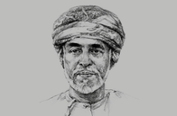 Sketch of <p>Sultan Qaboos bin Said Al Said</p>