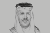 Sketch of <p>Abdul Latif Al Zayani, Secretary-General</p>