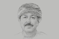 Sketch of <p>Hamood Sangour Al Zadjali, Executive President, Central Bank of Oman (CBO)</p>