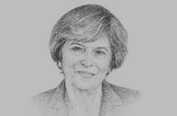 Sketch of <p>Theresa May, Prime Minister of the UK</p>