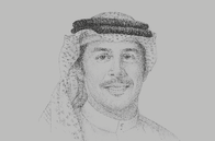 Sketch of <p>Khalid Al Rumaihi, Chief Executive, Bahrain Economic Development Board</p>