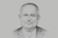 Sketch of <p>Ebrahim Mohammed Janahi, Chief Executive, Tamkeen</p>