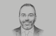 Sketch of <p>Carlos Lopes, Professor, University of Cape Town; and Visiting Fellow, Oxford Martin School</p>