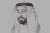Sketch of <p>Sheikh Sultan bin Mohammed Al Qasimi, Ruler of Sharjah and Member of the UAE's Supreme Council</p>