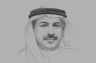 Sketch of <p>Khalifa Mohammed Al Kindi, Chairman, Central Bank of the UAE</p>